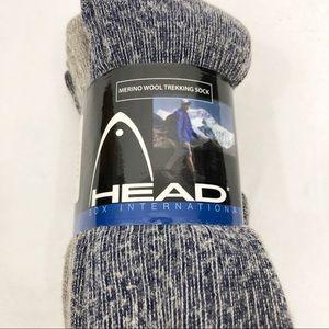 NEW Head Mens 3 Pack Merino Wool Trekking Hiking Outdoor Boot Socks, Size 10-13